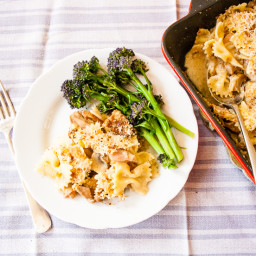 Recipe: Turkey Pasta Bake with Ham and Mushrooms
