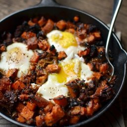 Sweet Potato Hash with Sausage & Eggs