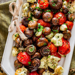Italian Roasted Mushrooms and Veggies