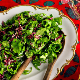 Red and Green Salad With Anchovy-Mustard Vinaigrette