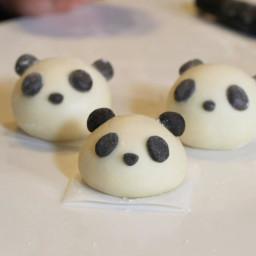 Red Bean-Stuffed Panda Buns Recipe by Tasty