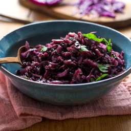 Red Cabbage and Black Rice, Greek Style