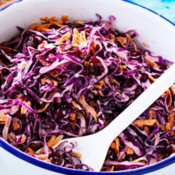 Red cabbage and craisin coleslaw