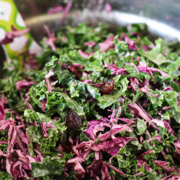 Red Cabbage and Kale Slaw