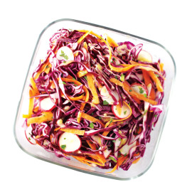 Red Cabbage and Radish Slaw