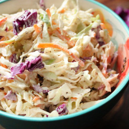 Red Cabbage Creamy Coleslaw