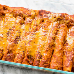 Red Chili Chicken Enchiladas