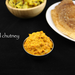 red chutney for mysore masala dosa | red chutney for dosa recipe