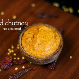 red chutney for mysore masala dosa | red chutney for dosa recipe