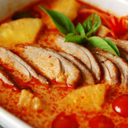 Red Curry Duck with Lychees