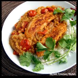 Red Lentil Chicken Stew