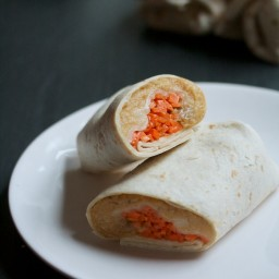 Red Lentil Pockets with Caramelized Onions and Pickled Carrots