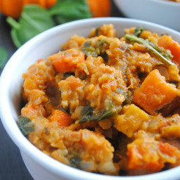 Red Lentil, Sweet Potato, and Carrot Vegan Chili