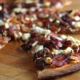 Red Onion and Goat Cheese Pizza