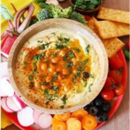 Red Paprika Hummus Platter