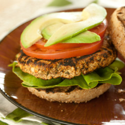 Red Pepper and Basil White Bean Burgers