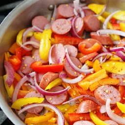 Red Pepper and Pasta Kielbasa