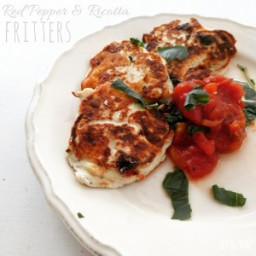 Red Pepper and Ricotta Fritters