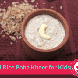 Red Rice Poha Kheer For Kids
