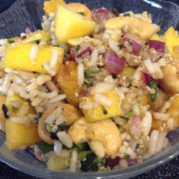 Red Rice Salad with Mango & Nuts