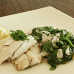 Red Snapper with Spinach - Candida Diet