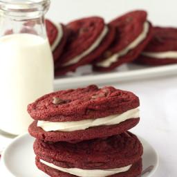 Red Velvet Sandwich Cookies