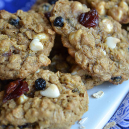 Red, White, and Blue Brown Sugar Oatmeal Cookies