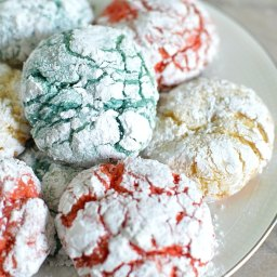 Red, White And Blue Crackle Cookies