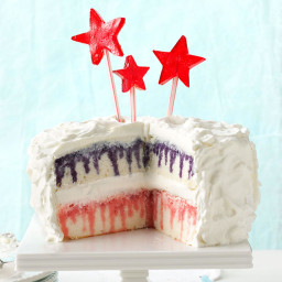 Red, White and Blueberry Poke Cake Recipe