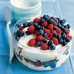 Red, White, and Blueberry Trifle