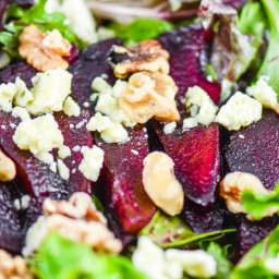 Red Wine Poached Pear Gorgonzola Salad