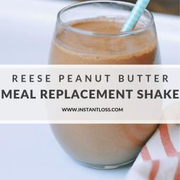 Reese Peanut Butter Meal Replacement Milkshake