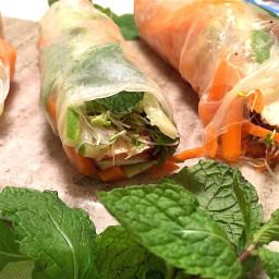 Refreshing Veggie-Stuffed Spring Rolls