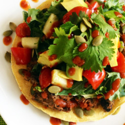 Refried Black Bean Tostadas