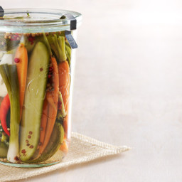 Refrigerator Pickles: Cauliflower, Carrots, Cukes, You Name It