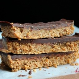 Reinvented Vegan Butterfinger Candy Bar