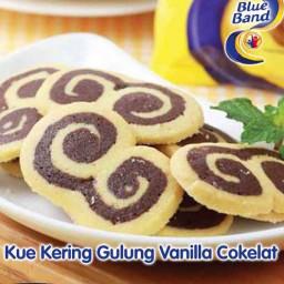 Resep Kue Kering Blueband Gulung Vanilla Coklat