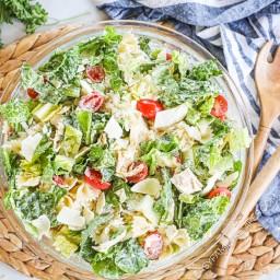 Restaurant Style CHICKEN CAESAR PASTA SALAD · Easy Family Recipes