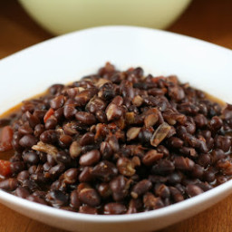 Restaurant Style Mexican Black Beans