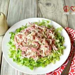 Reuben Chopped Salad - Low Carb, Gluten Free