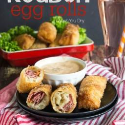 Reuben Egg Rolls