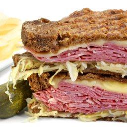 Reuben Po-Boy Sandwich