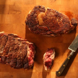 Reverse-Sear Ribeye Steak