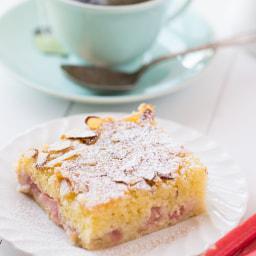 Rhubarb-Almond Snack Cake