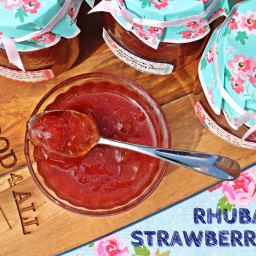 Rhubarb and Strawberry Jam