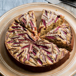Rhubarb Brown Sugar Cake