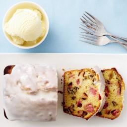 Rhubarb-buttermilk tea cake