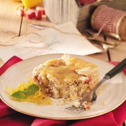 Rhubarb Cake with Lemon Sauce Recipe
