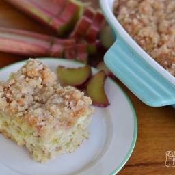 Rhubarb Crumb Cake (Streuselkuchen)