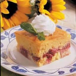 Rhubarb Custard Cake